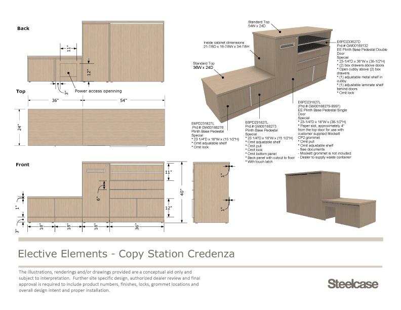 Meuble Steelcase présenation LayOut
