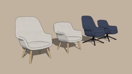 Le siège, le dos et l'avant du SMILE LOUNGE peuvent être rembourrés dans différents tissus, ce qui permet des possibilités infinies de créer un design qui convient à votre espace.