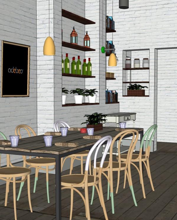 Scène SketchUp d'une salle à manger